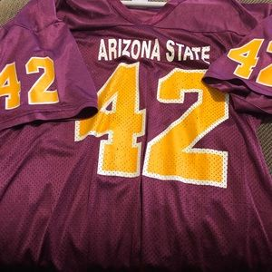 Pat Tillman ASU burgundy and gold jersey men's